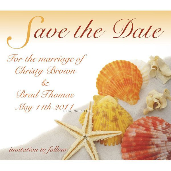 "Full Color Save The Date Magnet (4""X 3 1/2"") - 48 Hour Turnaround"