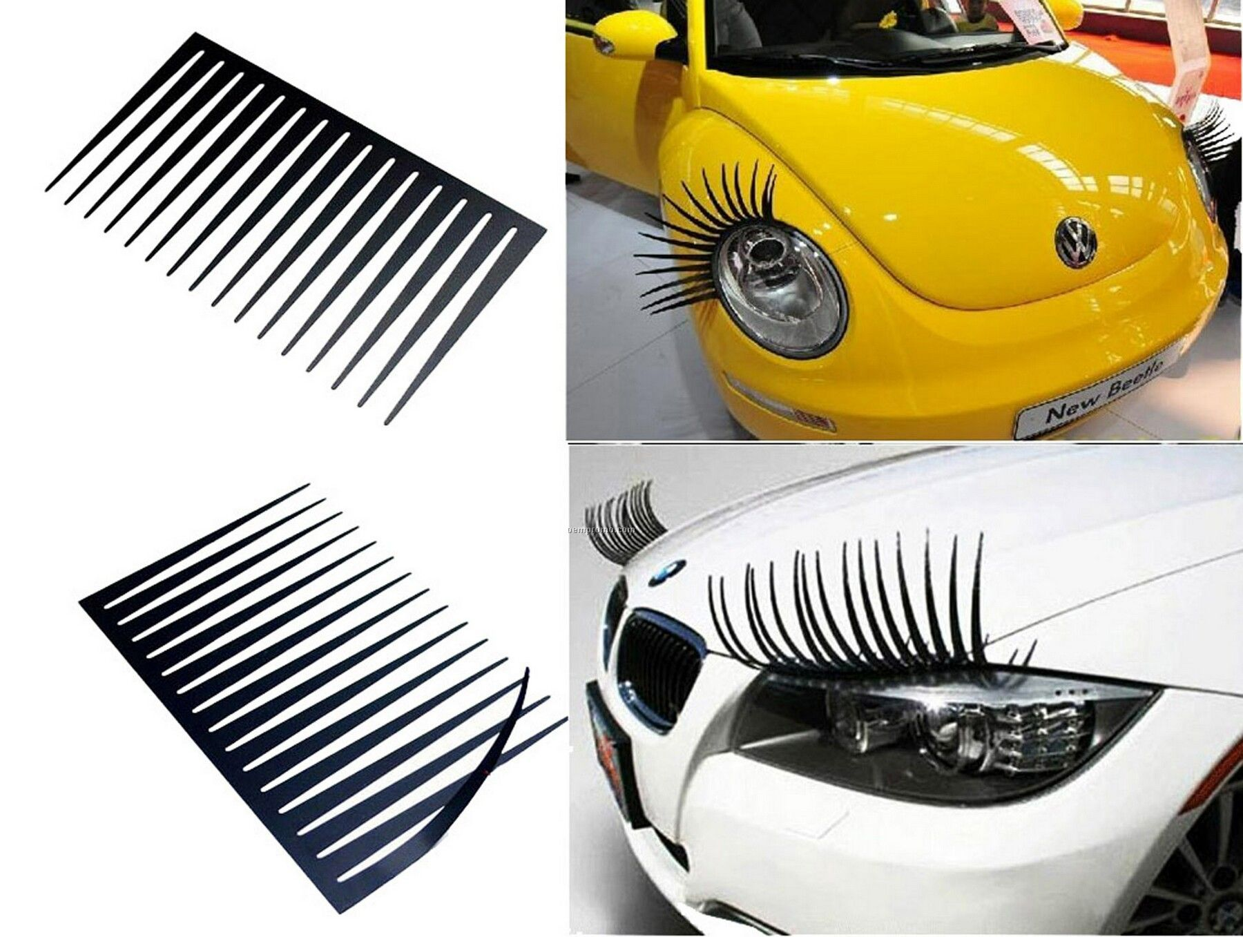 High Quality Auto 3d Headlight Lamp Eyelash Car Stickerchina