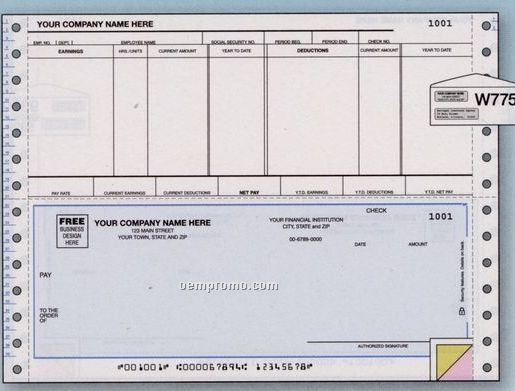 Payroll Check - Continuous (3 Part)