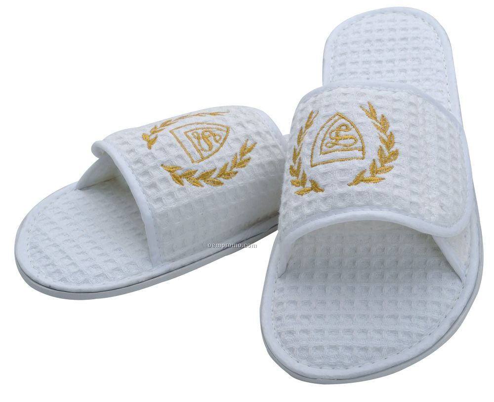 Waffle Weave Spa Slippers - Embroidered 3 Day Proship