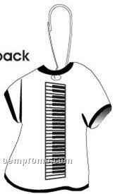 Keyboard T-shirt Zipper Pull