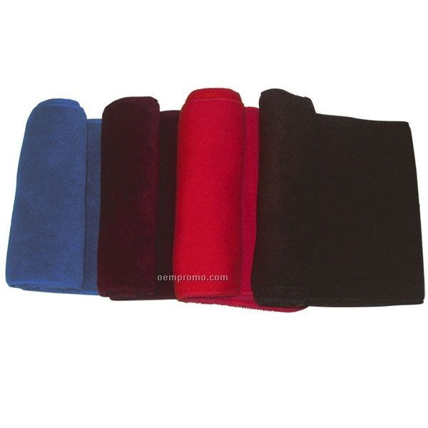 Eco Friendly Wicking Fleece Scarves W/ Serged End & Matching Thread