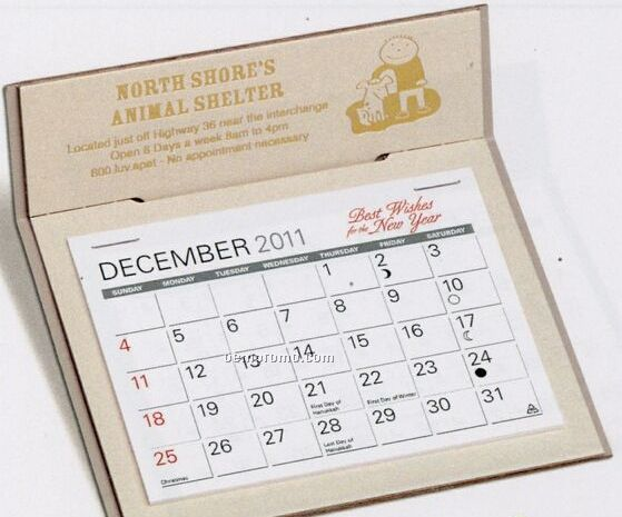 The Natural Warwick Premier Desk Calendar (January - April)
