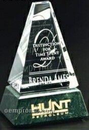 """Verde Gallery Crystal & Marble Varnell Peak Award (6"""")"""