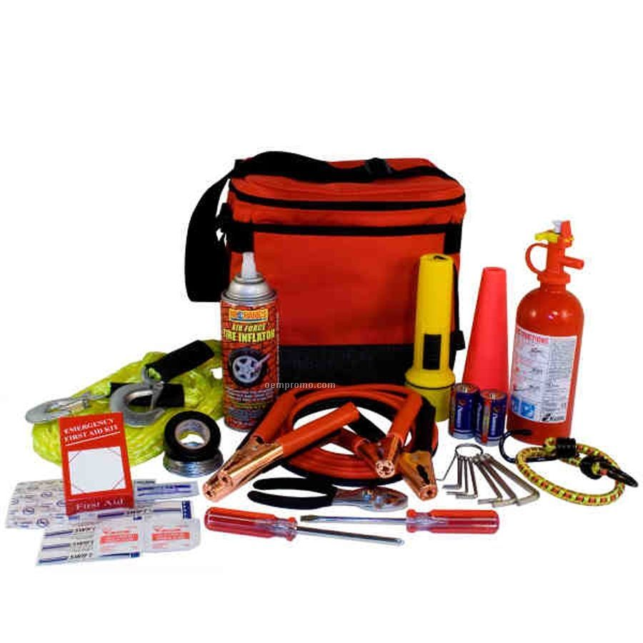 Auto Emergency Kit W/ Jumper Cables & Fire Extinguisher