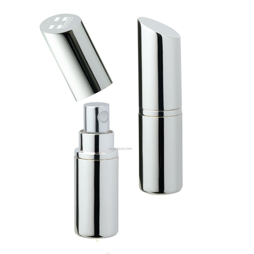 Lipstick Shaped Design Silver Plated Perfume Atomizer