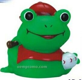 Mini Rubber Baseball Frog Toy