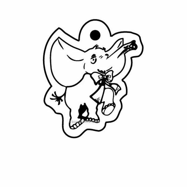 Stock Shape Collection Elephant W/ Bow Tie Key Tag
