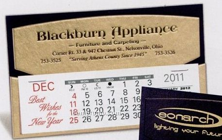 The Midas Warwick Premier Desk Calendar (After April)