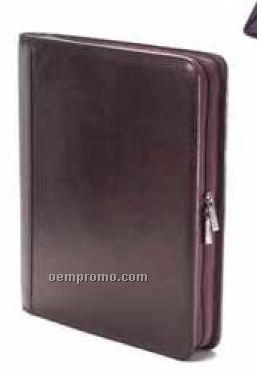 Zip Extreme File Padfolio - Tuscan Leather
