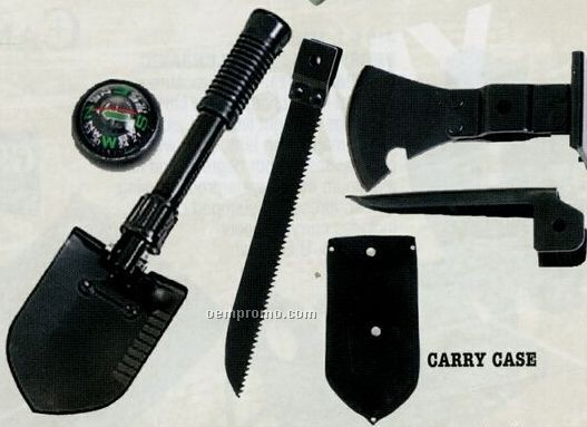 5-in-1 Multi-purpose Tool With Shovel/ Pick & Compass