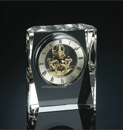 """Crystal Clock 5 1/2""""x4 3/4""""x1 3/4"""""""