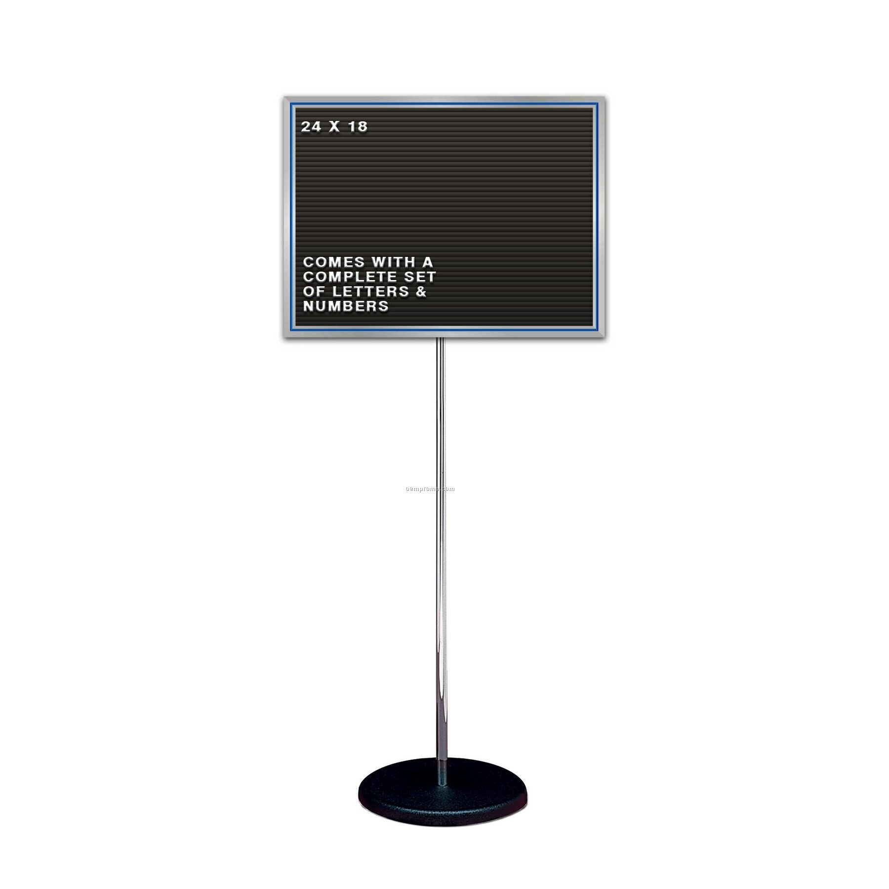 Free Standing Changeable Letter Board W Chrome Pole Stand 25 Quot X19 Quot China Wholesale Free
