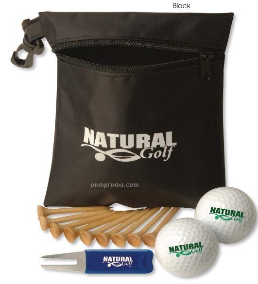 Golf Essentials Bag Pro Pack W/ Pinnacle Gold Precision Golf Balls