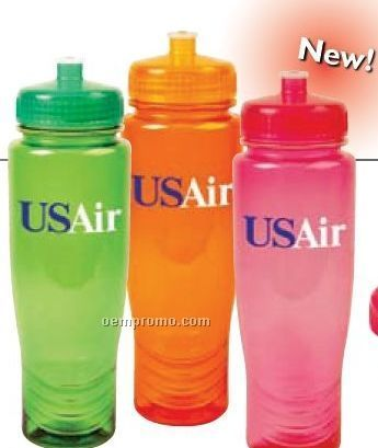 28 Oz. Polyclean Bottle With Push Up Top - Bpa Free, Usa Made