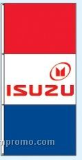 Double Face Dealer Interceptor Drape Flags - Isuzu