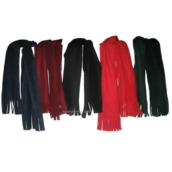 eco friendly wicking fleece scarves w tassel on both ends