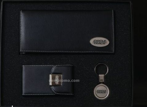 Insignia Series Checkbook Cover/ Key Chain/ Business Card Holder Gift Set