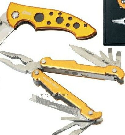 Maxam 2 Piece Multi Plier Tool And Liner Lock Knife