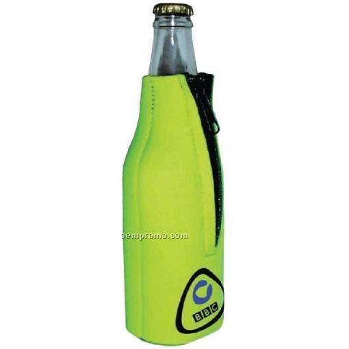 Premium Collapsible Foam Bottle Insulators W/ Zipper