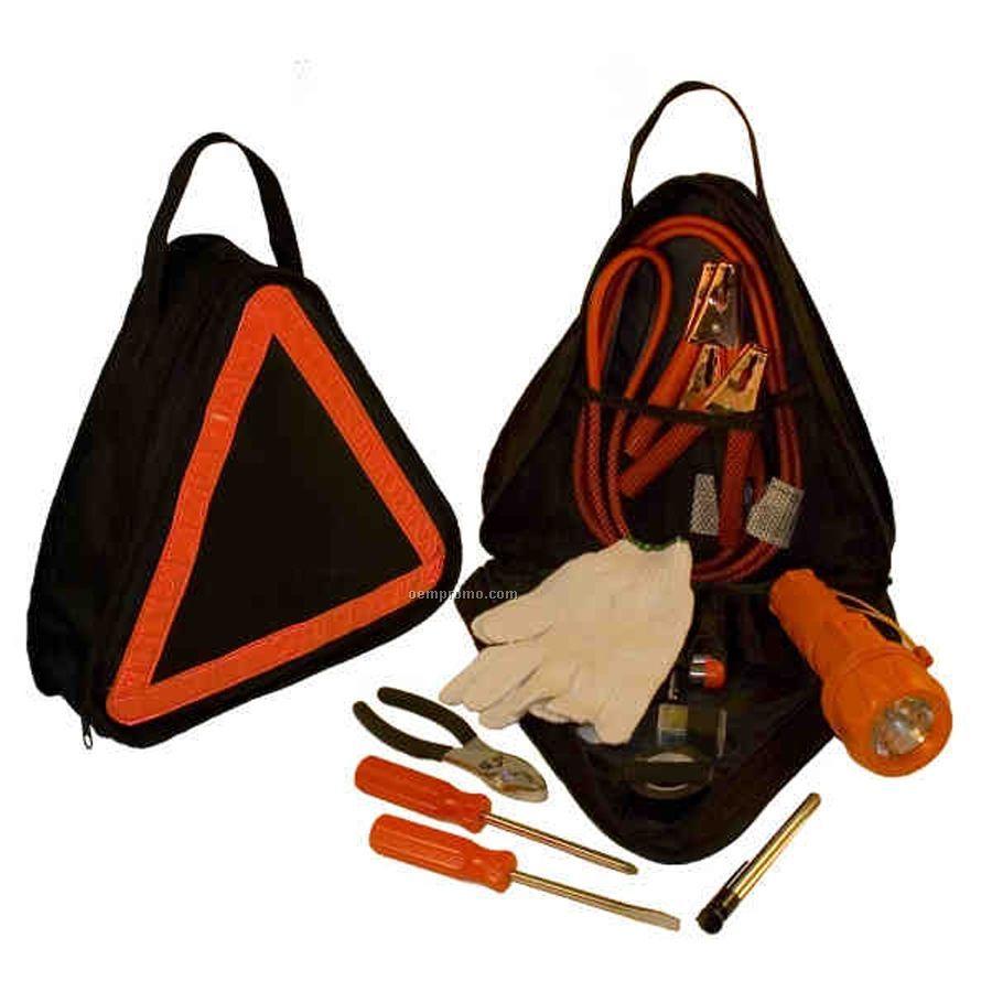 Triangle Shape Auto Emergency Kit W/ Built In Reflective Triangle