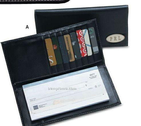 Insignia Series Black Leatherette Checkbook Cover