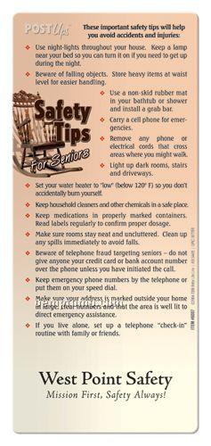 Post Ups Brochure - Safety Tips For Seniors