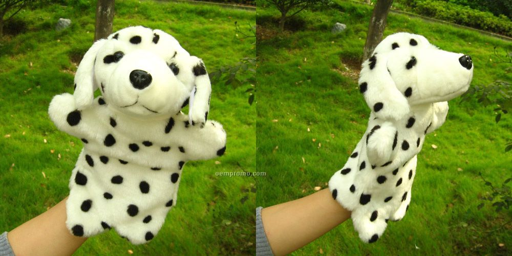 Spotted Dog Hand Puppet