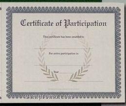 Stock Antique Parchment Certificate Of Attendance