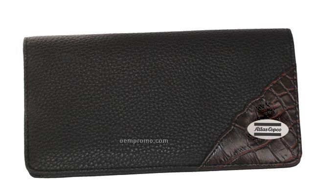 Designer Series Collection Leather Checkbook Cover