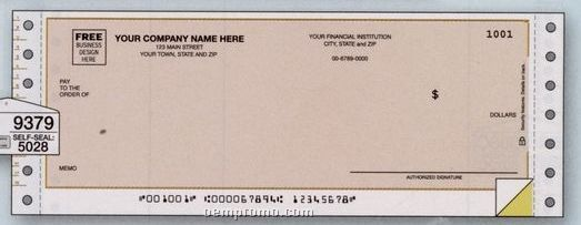 Multipurpose Check Without Lines (2 Part)