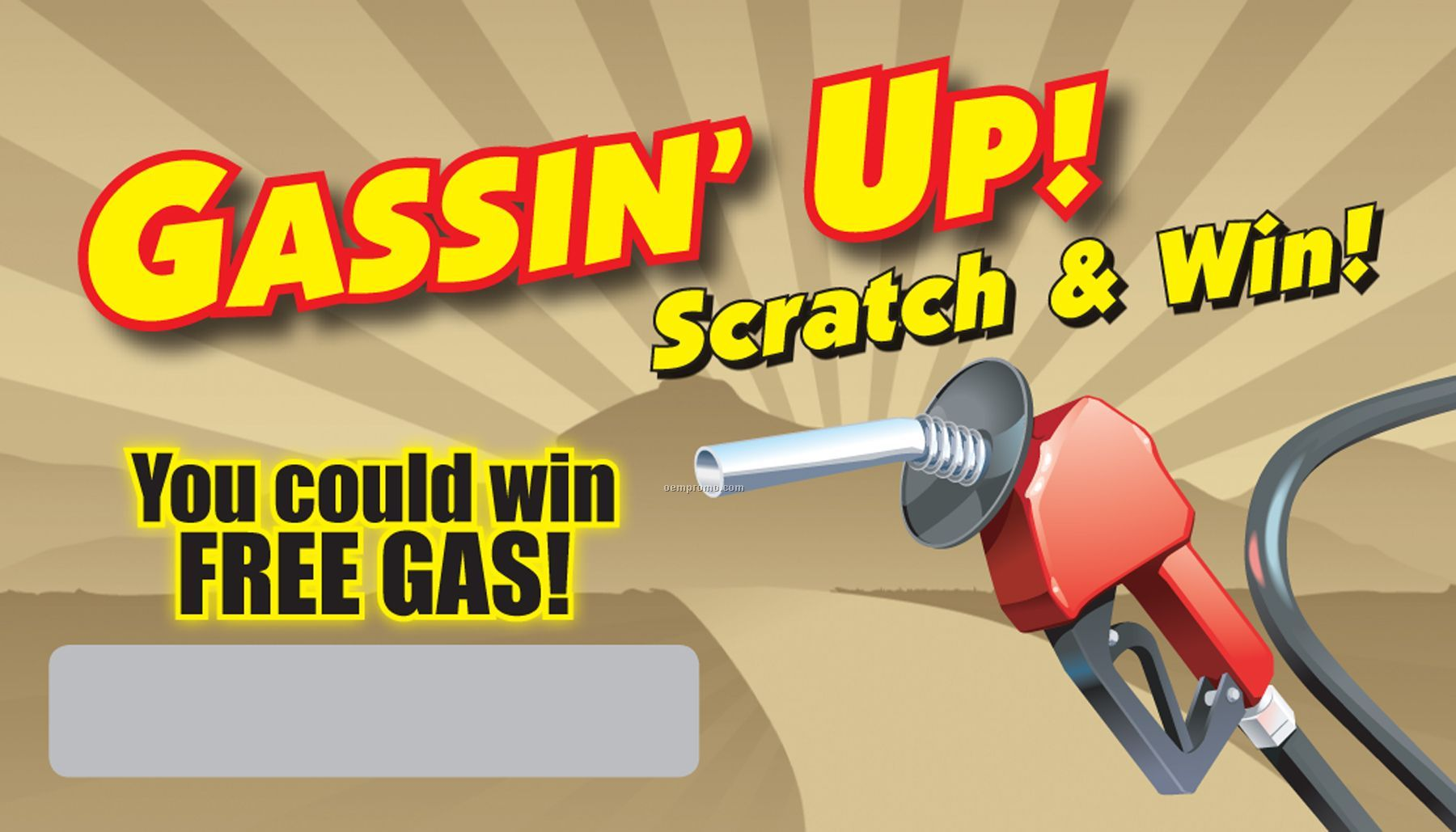 """Scratch Off Cards - Gassin' Up! (2""""X3.5"""")"""