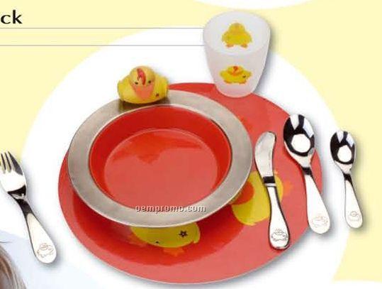 Sheriff Duck 8 Piece Toddler Dish Set