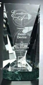 """Verde Gallery Crystal & Marble Valera Award (10"""")"""