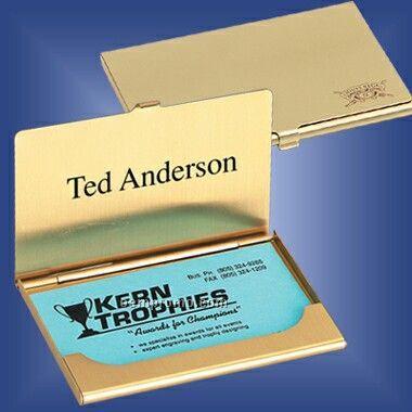 Brass Business Card Case (Screened)