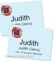 """Classic Name Tag Paper Insert - Blank (4 1/4""""X6"""")"""