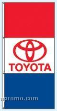 Double Face Dealer Interceptor Drape Flags - Toyota