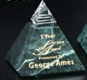 """Verde Gallery Crystal & Marble Vernita Peak Award (3 1/4"""")"""