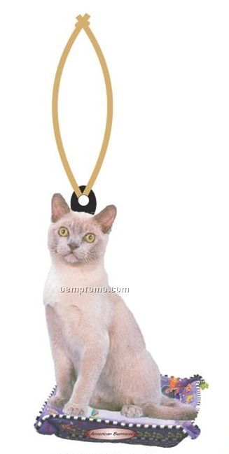 American Burmese Cat Executive Ornament W/ Mirrored Back (2 Square Inch)
