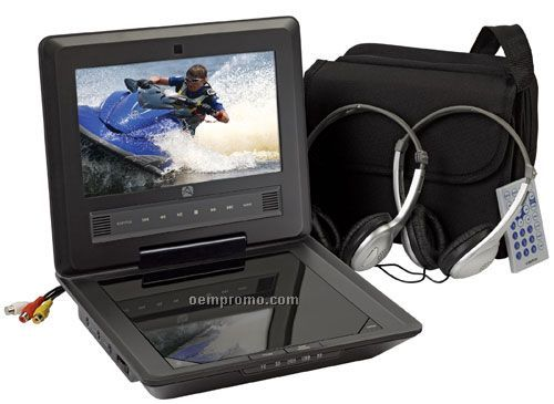 """Audiovox D7104pk 7"""" Portable DVD Package System"""