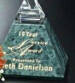 """Verde Gallery Crystal & Marble Vernita Peak Award (4"""")"""