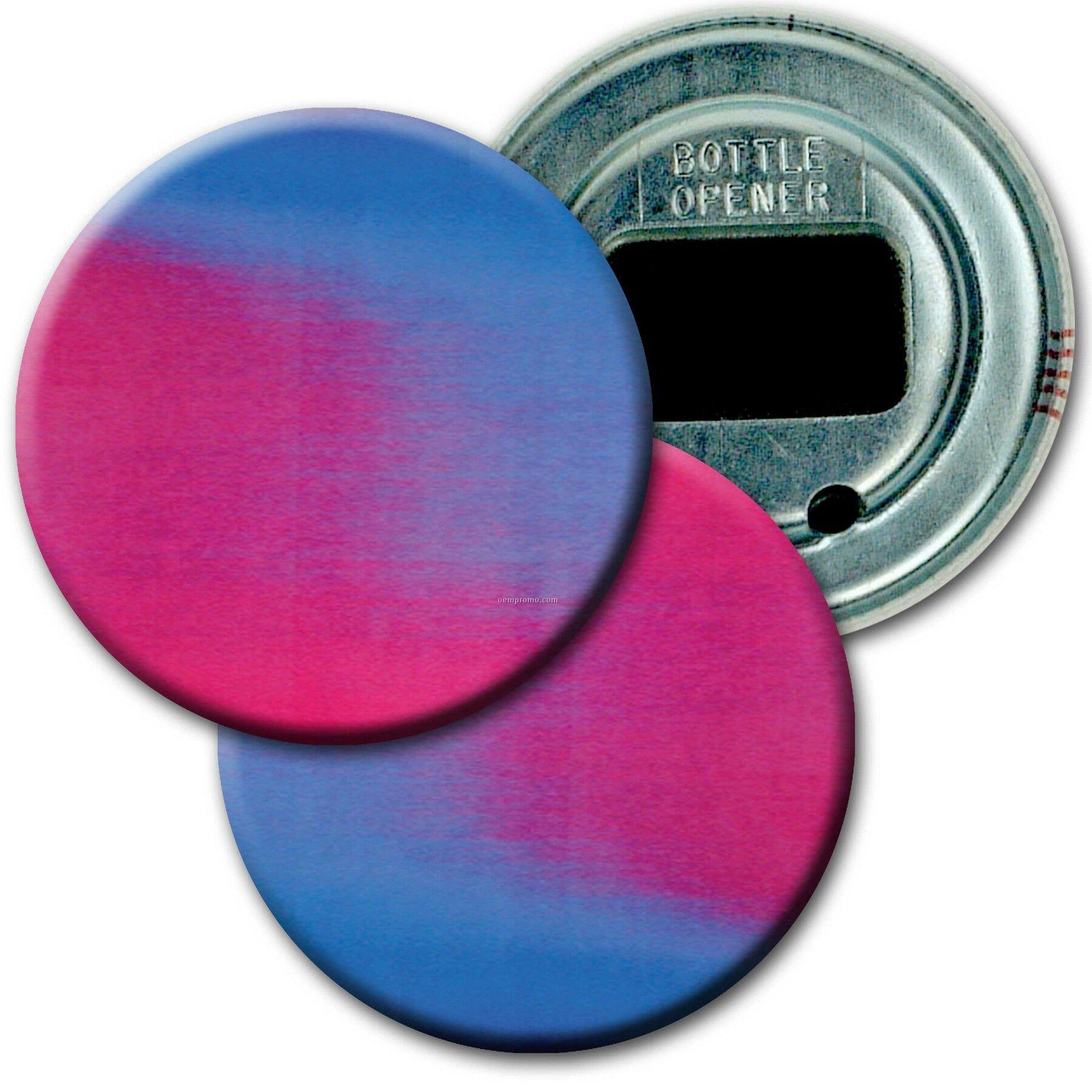 """2"""" Diameter Round Bottle Opener W/3d Lenticular Images ( Blanks)"""
