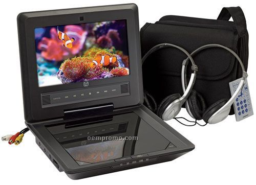 "Audiovox D710pk 7"" Portable DVD Package System"