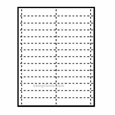 """Classic Name Tag Paper Insert - 1 Colors (4""""X3/4"""")"""