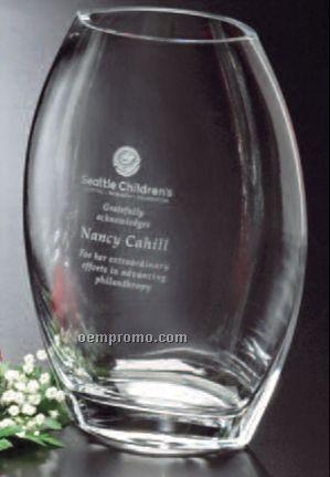 """Clear Crystal Oval Vase Award (8 1/2"""")"""