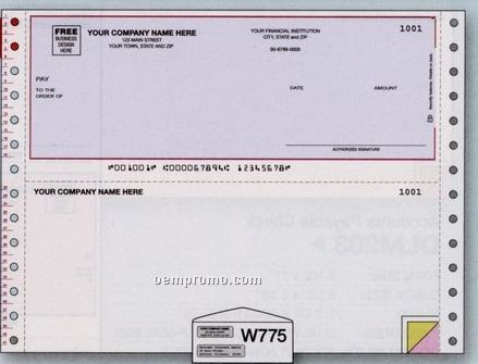Multipurpose Check - Simply Accounting Compatible (3 Part)