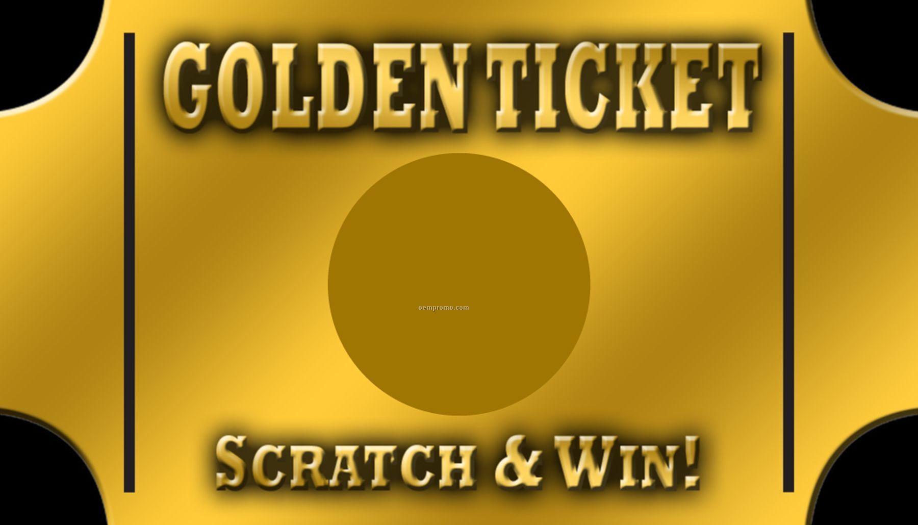"""Scratch Off Cards - Golden Ticket (2""""X3.5"""")"""