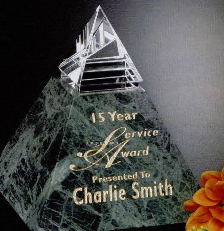 """Verde Gallery Crystal & Marble Vernita Peak Award (4 1/2"""")"""