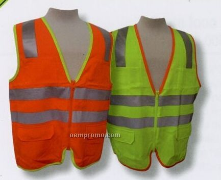 Ansi Class II Fabric Front & Back Vest