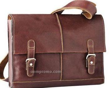 Brown Pebbled Calf Workbag / Briefcase